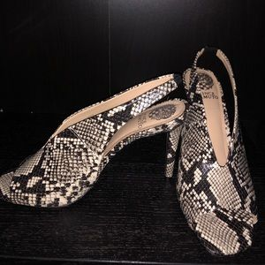 Vince Camuto Faux Snakeskin Heels